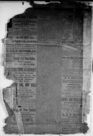 Primary view of object titled 'The Albany News. (Albany, Tex.), Vol. [3], No. [2], Ed. 1 Thursday, March 4, 1886'.
