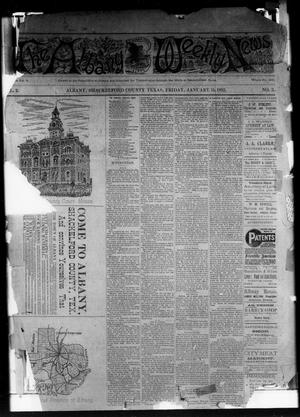 Primary view of object titled 'The Albany Weekly News (Albany, Tex.), Vol. 2, No. 3, Ed. 1 Friday, January 15, 1892'.