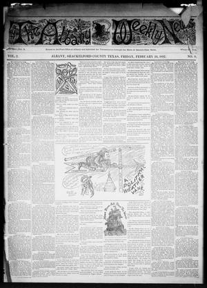 Primary view of object titled 'The Albany Weekly News (Albany, Tex.), Vol. 2, No. 9, Ed. 1 Friday, February 26, 1892'.