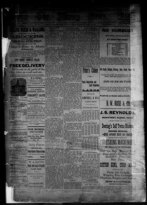 Primary view of object titled 'The Albany News. (Albany, Tex.), Vol. 3, No. 10, Ed. 1 Thursday, April 29, 1886'.