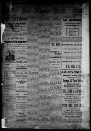 Primary view of object titled 'The Albany News. (Albany, Tex.), Vol. 3, No. 9, Ed. 1 Thursday, April 22, 1886'.