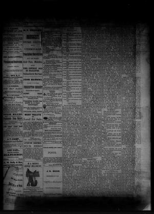 Primary view of object titled 'The Albany News. (Albany, Tex.), Vol. [1], No. [15], Ed. 1 Friday, May 30, 1884'.