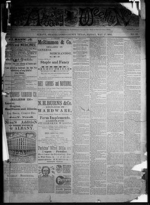 Primary view of object titled 'The Albany Weekly News (Albany, Tex.), Vol. [2], No. 22, Ed. 1 Friday, May 27, 1892'.