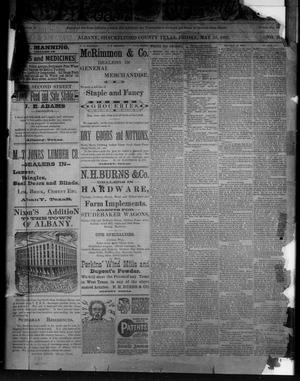 Primary view of object titled 'The Albany Weekly News (Albany, Tex.), Vol. [2], No. 21, Ed. 1 Friday, May 20, 1892'.
