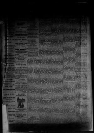 Primary view of object titled 'The Albany News. (Albany, Tex.), Vol. [1], No. [8], Ed. 1 Friday, April 18, 1884'.