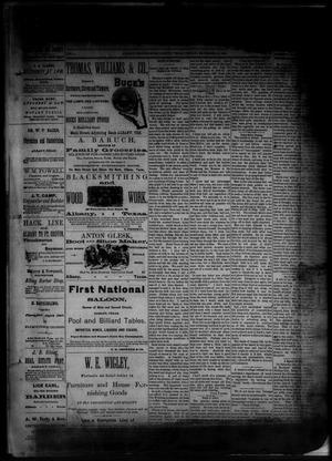 Primary view of object titled 'The Albany News. (Albany, Tex.), Vol. 1, No. [39], Ed. 1 Friday, November 21, 1884'.