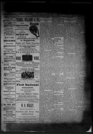 Primary view of object titled 'The Albany News. (Albany, Tex.), Vol. 1, No. 37, Ed. 1 Friday, November 7, 1884'.