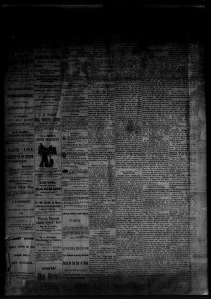 Primary view of object titled 'The Albany News. (Albany, Tex.), Vol. [1], No. [23], Ed. 1 Friday, August 1, 1884'.