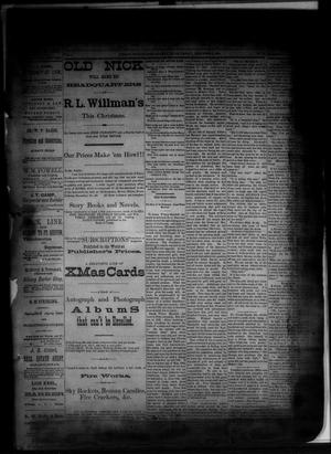 Primary view of object titled 'The Albany News. (Albany, Tex.), Vol. 1, No. [41], Ed. 1 Friday, December 5, 1884'.