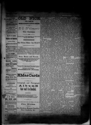 Primary view of object titled 'The Albany News. (Albany, Tex.), Vol. 1, No. 42, Ed. 1 Friday, December 12, 1884'.