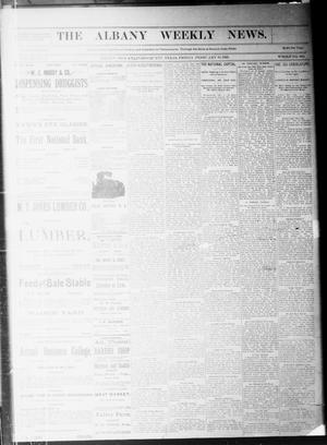 Primary view of object titled 'The Albany Weekly News. (Albany, Tex.), Vol. 9, No. 45, Ed. 1 Friday, February 10, 1893'.