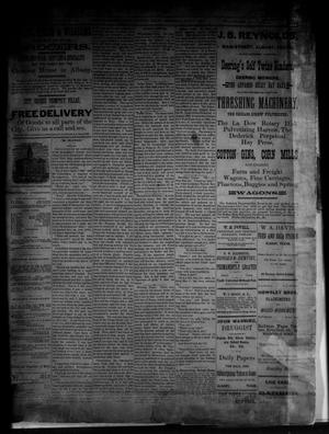 Primary view of object titled 'The Albany News. (Albany, Tex.), Vol. [3], No. [19], Ed. 1 Thursday, July 1, 1886'.