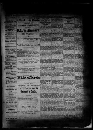 Primary view of object titled 'The Albany News. (Albany, Tex.), Vol. 1, No. 40, Ed. 1 Friday, November 28, 1884'.