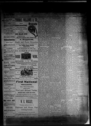 Primary view of object titled 'The Albany News. (Albany, Tex.), Vol. 1, No. 32, Ed. 1 Friday, October 3, 1884'.