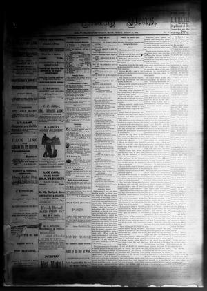 Primary view of object titled 'The Albany News. (Albany, Tex.), Vol. [1], No. 27, Ed. 1 Friday, August 29, 1884'.