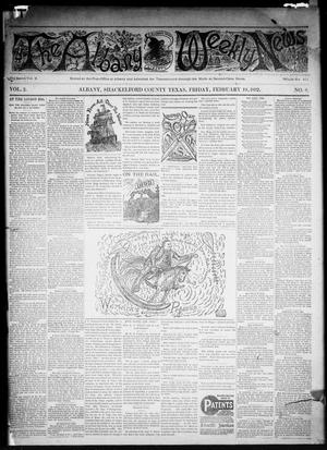 Primary view of object titled 'The Albany Weekly News (Albany, Tex.), Vol. 2, No. 8, Ed. 1 Friday, February 19, 1892'.