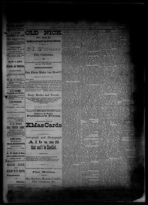 Primary view of object titled 'The Albany News. (Albany, Tex.), Vol. 1, No. 43, Ed. 1 Friday, December 19, 1884'.