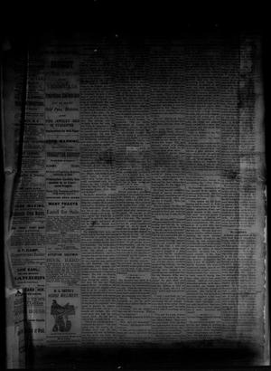 Primary view of object titled 'The Albany News. (Albany, Tex.), Vol. [1], No. [11], Ed. 1 Friday, May 9, 1884'.