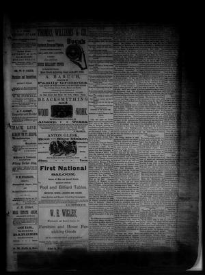 Primary view of object titled 'The Albany News. (Albany, Tex.), Vol. [1], No. [38], Ed. 1 Friday, November 14, 1884'.