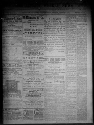 Primary view of object titled 'The Albany Weekly News. (Albany, Tex.), Vol. 9, No. 18, Ed. 1 Friday, August 5, 1892'.