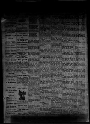 Primary view of object titled 'The Albany News. (Albany, Tex.), Vol. [1], No. [9], Ed. 1 Friday, April 25, 1884'.