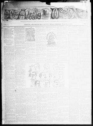 Primary view of object titled 'The Albany Weekly News (Albany, Tex.), Vol. 2, No. 11, Ed. 1 Friday, March 11, 1892'.