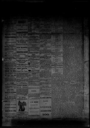 Primary view of object titled 'The Albany News. (Albany, Tex.), Vol. [1], No. [15], Ed. 1 Friday, June 6, 1884'.