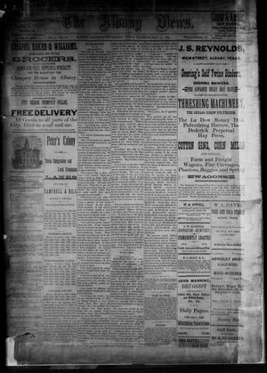 Primary view of object titled 'The Albany News. (Albany, Tex.), Vol. 3, No. 14, Ed. 1 Thursday, May 27, 1886'.
