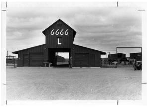 Primary view of object titled 'Replica Four Sixes Barn'.