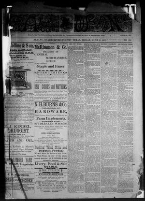 Primary view of object titled 'The Albany Weekly News (Albany, Tex.), Vol. [2], No. 24, Ed. 1 Friday, June 10, 1892'.