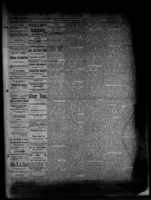 Primary view of object titled 'The Albany News. (Albany, Tex.), Vol. 1, No. 47, Ed. 1 Friday, January 16, 1885'.