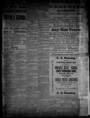Primary view of object titled 'The Albany News. (Albany, Tex.), Vol. [3], No. [21], Ed. 1 Thursday, July 15, 1886'.
