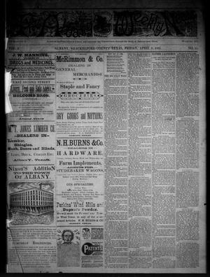 Primary view of object titled 'The Albany Weekly News (Albany, Tex.), Vol. 2, No. 15, Ed. 1 Friday, April 8, 1892'.