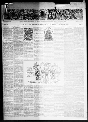 Primary view of object titled 'The Albany Weekly News (Albany, Tex.), Vol. 2, No. 12, Ed. 1 Friday, March 18, 1892'.