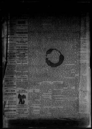 Primary view of object titled 'The Albany News. (Albany, Tex.), Vol. [1], No. [7], Ed. 1 Friday, April 11, 1884'.