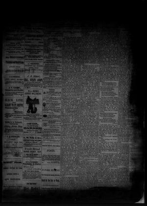 Primary view of object titled 'The Albany News. (Albany, Tex.), Vol. [1], No. [25], Ed. 1 Friday, August 15, 1884'.