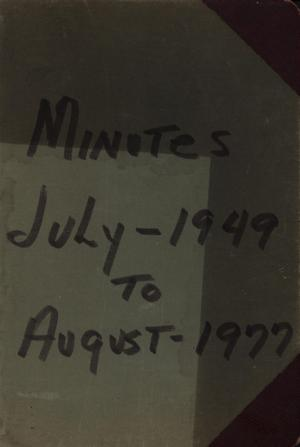 Primary view of object titled '[College Avenue Missionary Baptist Church Minutes, July 1949 to August 1977]'.