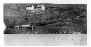Primary view of object titled '[Photograph of LS Ranch in Oldham County, Texas]'.