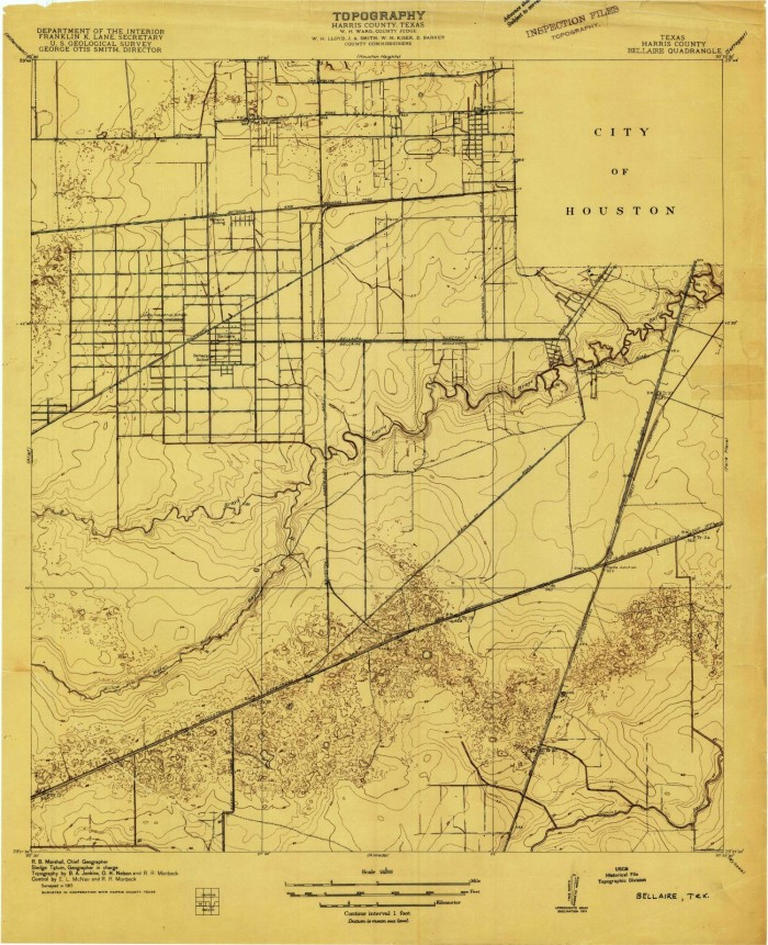 First side of: Bellaire Quadrangle, a map available in the The Portal to Texas History