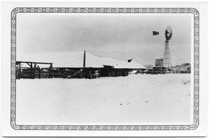Primary view of object titled '1.2. & 3 Ranch Headquarters After a Snow'.