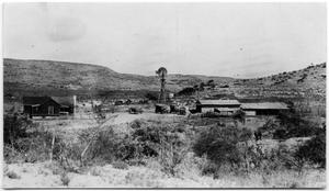Primary view of object titled 'Ranch Headquarters of E.E. Strichlin in Val Verde County, Texas'.