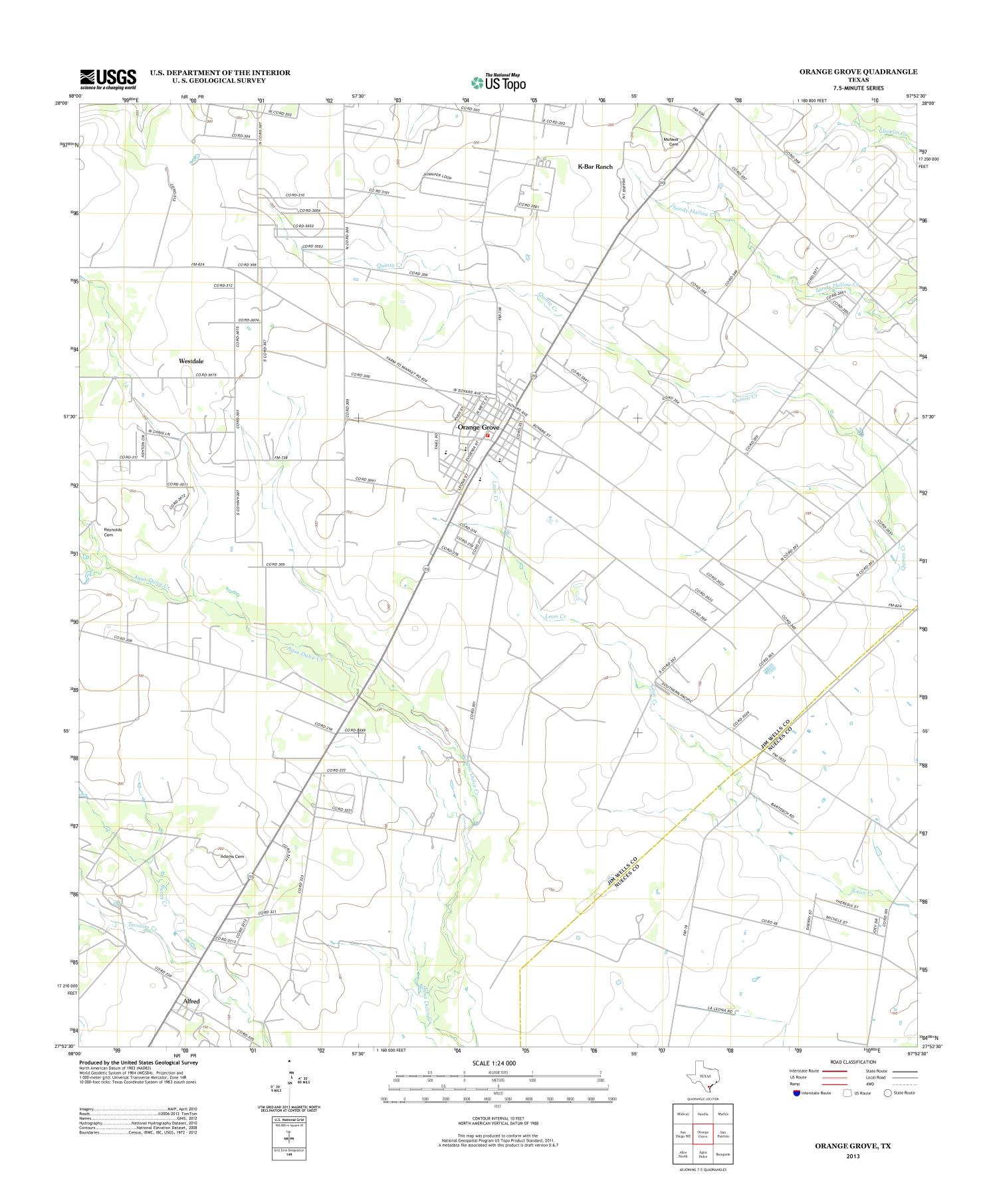 Orange Grove Quadrangle - The Portal to Texas History