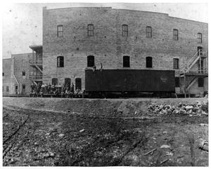 Primary view of object titled 'Decker Meat Packing Plant in Mason City, Iowa'.