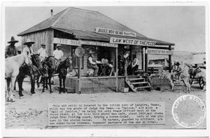 Primary view of object titled 'Judge Roy Bean Trying a Case, 1900'.