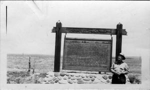 Primary view of object titled 'Monument to Custer, near Miles City, Montana'.