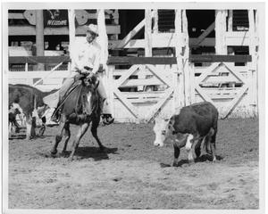 Primary view of object titled 'Cowboy Riding Next to a Steer'.