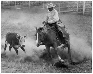 Primary view of object titled 'Rider Cutting Off a Small Cow'.