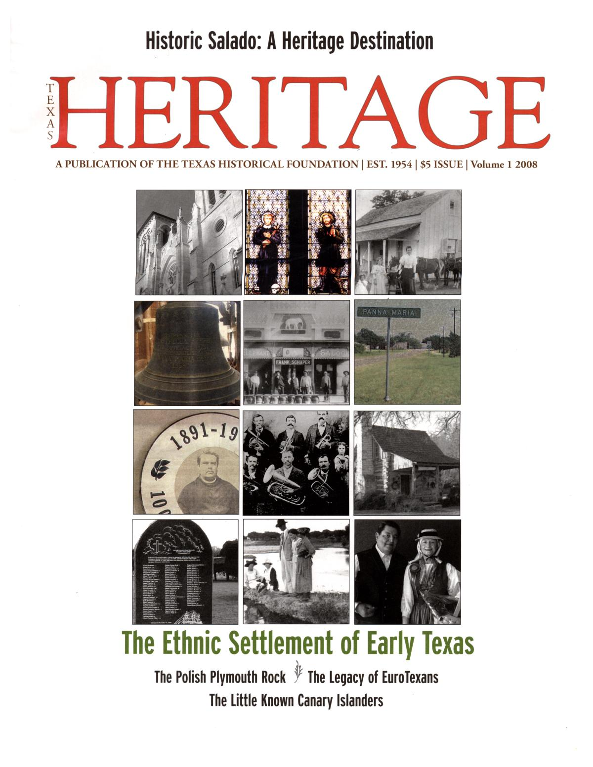 Heritage, 2008, Volume 1                                                                                                      Front Cover