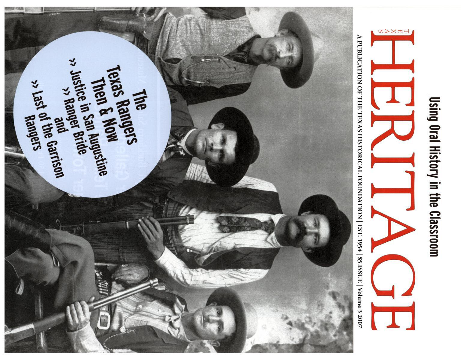 Heritage, 2007, Volume 3                                                                                                      Front Cover