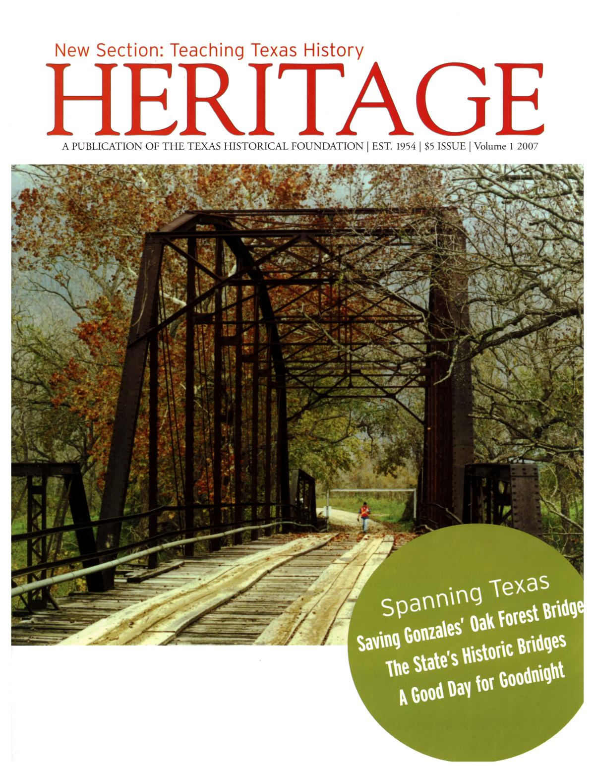 Heritage, 2007, Volume 1                                                                                                      Front Cover